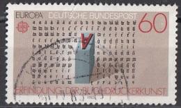 1392 Germania 1983  Johannes Gutenberg Viaggiato Used  Printing  Press