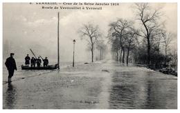 78 - VERNEUIL -- Crue De La Seine Janvier 1910 - Route De Vernouillet à... - Verneuil Sur Seine