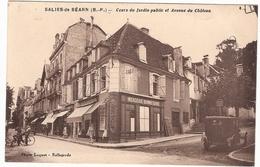 CPA Salies De Bearn Cours Du Jardin Public Et Avenue Du Château 64 Pyrénées Atlantiques Mercerie  Bonneterie - France