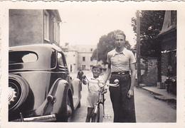 26142 Trois 3 Photo Voiture Automobile-1937 1936 - Rennes 35 France - Automobiles