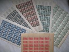 Tunisie  1931-1954   4  Feuille Complète N°  219-249-383-384-386-387  Neuf   TBE Voir Photo - Neufs