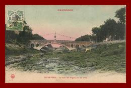 Pnom-Penh * Le Pont Des Nagas *  (vu De Côté) A.T  Cambodge Cambodia Indochine ( Scan Recto Et Verso ) ** Colorisé - Cambodge