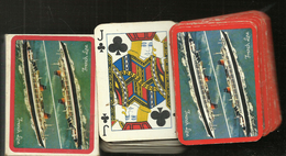 JEU DE 54 CARTES PUBICITAIRE COMPAGNIE GENERALE TRANSATLANTIQUE FRENCH LINE - 54 Cards