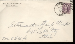 1932  Enveloppe From William Briggs  With Scott Nr 720 - Cancelled Dixon - Etats-Unis