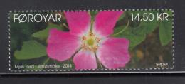 Faroe Islands MNH 2014 14.50kr Soft Downy Rose - Sepac