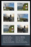 Faroe Islands MNH 2014 Booklet Pane Of 6 Lighthouses