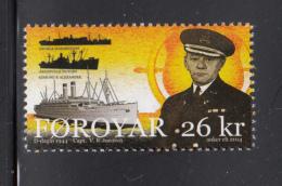 Faroe Islands MNH 2014 26kr Ships, Captain - D-Day