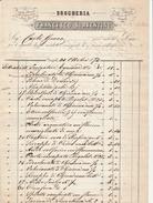 Napoli. 1873. Fattura Commerciale Con Marca C. 5, DROGHERIA FRANCESCO SORRENTINO. BELLISSIMA. - Italia
