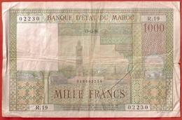 Billet 1000 Francs MAROC  15-11-56 - Maroc