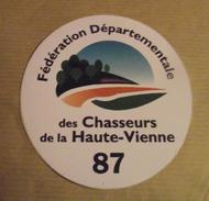THEME CHASSE : AUTOCOLLANT FEDERATION CHASSEURS DE LA HAUTE-VIENNE - Stickers