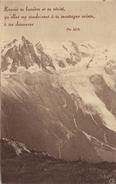 CPA 74 ALPES FRANCAISES VALLEE DE CHAMONIX AIGUILLE DU MIDI MONT BLANC ET GLACIER DES BOSSONS - Chamonix-Mont-Blanc