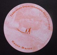 THEME CHASSE : AUTOCOLLANT FEDERATION CHASSEURS DE LA HAUTE-MARNE - Stickers