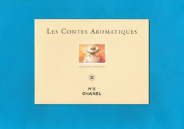 Cartes Parfumées Carte LIVRET CHANEL N°5  LES CONTES AROMATIQUES  1994 De CHANEL 10 PAGES AMBASSADE EN IMAGINAIRE - Perfume Cards