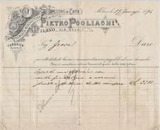 FATTURA 1894 PIETRO POGLIAGHI (D61 - Italia