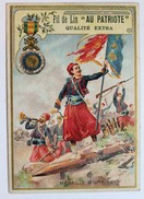 Chromo Médaille Militaire Infanterie Coloniale Zouave Fil De Lin Au Patriote France - Kaufmanns- Und Zigarettenbilder