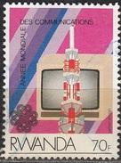 Rwanda 1984 Michel 1265 O Cote (2005) 1.10 Euro Télévision Cachet Rond - Rwanda
