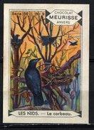 Meurisse - Ca 1930 - 56 - Oiseaux Et Leurs Nids, Birds And Their Nests - 9 - Le Corbeau, Raven, Raaf - Chocolat