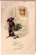 DACHSHUND Postman. Vintage Pc. HWB 1924 - Chiens