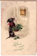 DACHSHUND Postman. Vintage Pc. HWB 1924 - Honden