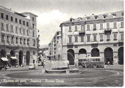 IMPERIA. Riviera Dei Fiori. Piazza Dante. (autobus, Automobiles, Publicité Dentiste) - Bus & Autocars