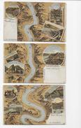 Gruss V. Rhein 1906  3 Lithos Nrs IV,V,VI - Autres