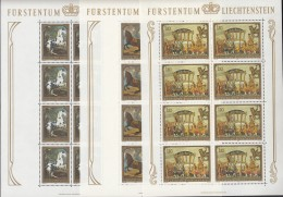 LIECHTENSTEIN 717-719, Kleinbogen, Postfrisch **, Gemälde 1978