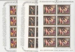 LIECHTENSTEIN 655-657, Kleinbogen, Postfrisch **, Peter Paul Rubens 1976