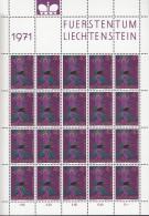 LIECHTENSTEIN 543, Kleinbogen, Postfrisch **, Kirchenpatrone 1971