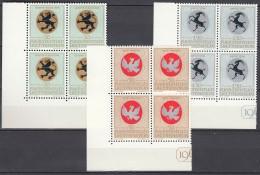 LIECHTENSTEIN 514-516, 4erBlocks Eckrand, Postfrisch **, Wappen Geistlicher Patronatsherren, 1969