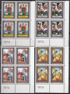 LIECHTENSTEIN 616-619, 4erBlock Eckrand, Postfrisch **, Weihnachten 1974