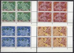 LIECHTENSTEIN 508-511, 4erBlock Eckrand, Postfrisch **, 250 Jahre Liechtenstein 1969