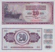 YUGOSLAVIA  20  Dinara 1978  UNC , P-88a  ZA  ( Replacement ) - Yugoslavia