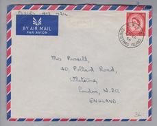Ozeanien Christmas Island 1956-09-27 B.F.Po. Brief Nach London - Christmas Island