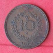 AZORES 10 REIS 1901 -    KM# 17 - (Nº17936) - Açores
