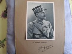 9 Affiches Avec Differents Generaux Militaires ; Autographes - Autographs