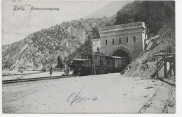 Brig , Simploneingang. (mit Zug) - Suiza