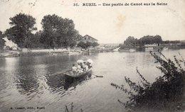 CPA RUEIL - UNE PARTIE DE CANOT SUR LA SEINE - Rueil Malmaison