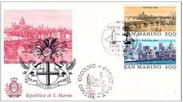 SAN MARINO - 8 5 1980 FDC ESP FILATELICA DI  LONDRA