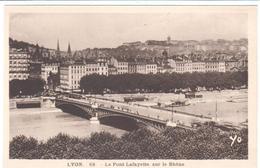 POSTALES  .- LYON  -FRANCIA -  EL PUENTE LAFAYETTE SOBRE EL RODANO  (LE PONT LAFAYETTE SUR LE RHÔNE) - Lyon
