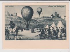 Carte Postale - Piège De PARIS - Départ D'un Ballon Poste - Globos
