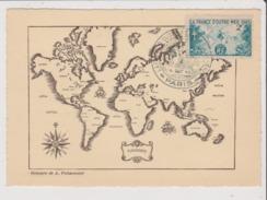 Carte Postale - Gravure De A Poissonnier - Cachet La France D'outre Mer Dans La Guerre Paris - Cartes Géographiques