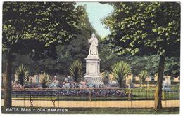 Watts Park Southampton - Postmark 1906 - Southampton