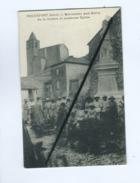 CPA Souple  - Rochefort   (Gard)  -  Monument Aux Morts De La Guerre Et Ancienne Eglise - Rochefort-du-Gard