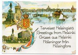 Finlande-1996-Terveiset Helsingista-Grusse Aus Helsinki--cachet Helsinki NAVIRE HELSINGFORS--bateau MS SILIA SERENADE - Finlande
