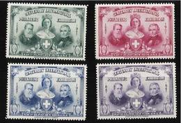Exposition Philatélique Internationale New York 1947, Série De 4 Vignettes - Postzegels
