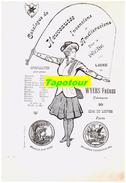 """G Ll 5) (Publicité Ancienne) Cartonnée Sur La Pêche """"Wyers"""" (a 4) 1 Face - Publicités"""