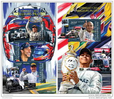 CENTRAL AFRICA 2015 ** Formula 1 Formel 1 Formule 1 Pilotes M/S + S/S - OFFICIAL ISSUE - A1540 - Cars