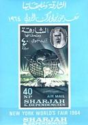 Globus 1964 Sharjah Block 8 ** 6€ Weltausstellung Hoja Bloc Ms EXPO New York Ss Unisphere Sheet Bf VAE - Universal Expositions