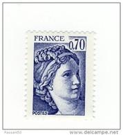 Sabine 0fr70 Violet YT 2056 Avec Gomme Hollandaise . Superbe , Voir Le Scan . Cote Maury N° 2061c : 3 € . - Varietà: 1970-79 Nuovi