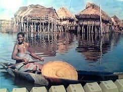 DAHOMEY CITE LACUSTRE Femme Donna Su Piroga STAMP TIMBRE  1963 4 + 6 F  GA12917 - Dahomey